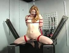 Helpless yellow-haired abused by horny mistress