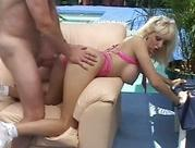 kinky bitch Candy Cotton getting wet vagina abused with fat hard rod