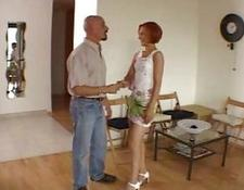 Amateur amazing redhead attractive wifey talking with her boy