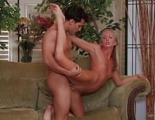 Amazing blondie young gets hard drilled by a gigantic meat