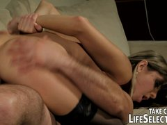 slutty fuckdoll Doris Ivy is being dominated by a pervert dude.