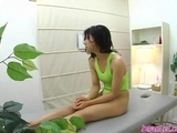 oriental woman In Swimsuit Massaged Kissing swallowing Tongues With The Masseuse On The Massage Bed by sotegune
