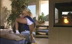 blonde babe Monica S gets and gives head before banging for a facial