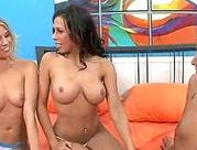 Lesbian cheerleader experiments with a 3 way