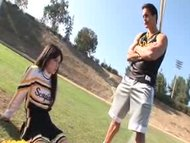 Schoolgirl Ashlyn Rae in cheerleader Uniform fuck college student