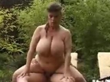 BBW old giant titties Has Hard Sex With Her fiance In Garden by pussy6969
