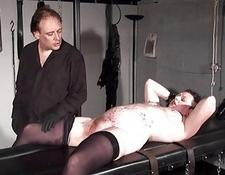 Stapled slaveslut in hardcore bdsm and cunt pain