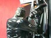 Master and slave lady in a BDSM scene