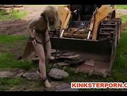 Slave Nicki Blue Outdoor BDSM Extreme in Chains
