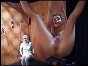 yellow-haired watches sub tied and spanked