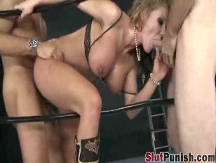 Nikki gets poked hard and abused
