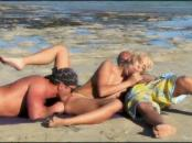 blondy Angel Is Double Teamed On The Beach
