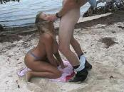 Beach Sex With giant melons blonde