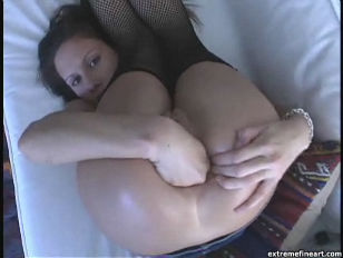 Taylor Rain ass dildo and fisting