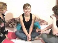 Brunette from Homemade College Russian Orgy vid 1