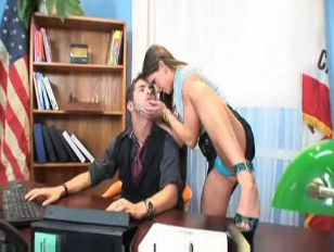 Office slut Rachel Has Her Way