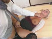 massive tit blonde pounded at the office