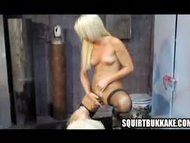 Crazy lady blows Squirt
