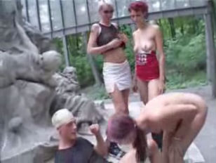 Crazy German Public Park Orgy