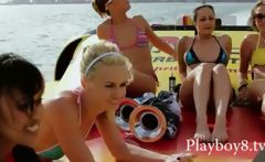 Group of filthy hot babes trying a wilf life in Miami and having fun