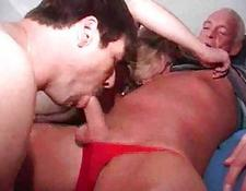 two bisexual cocks and one snatch