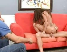 MILF with Cuckold boy Gets boned Doggy Style