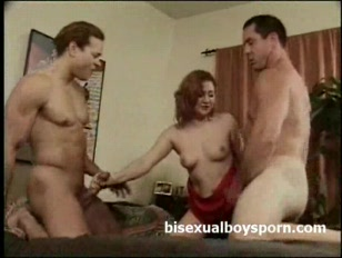 2 bisexual hunky guys with redhead .