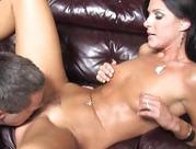 wifey goes black in front of her cuckold husband