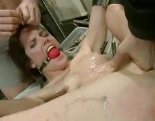 girl with dildo sticked in her butt sex