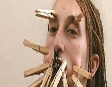 Samara Face Bondage and Bizarre Nose Torments