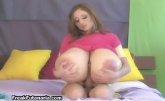 broad with giant titties stroking her