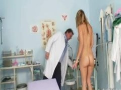 kinky Gyno Exam At Gyno Clinic With older Bizarre Doctor