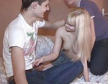 sweet blonde gf swallowing friend after payment