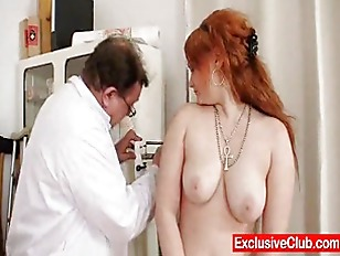 Redhead Samantha checked by kinky gyn.