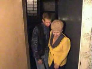 cougar yellow-haired granny Satisfies a boyfriend