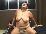 older broad humiliates and subdues yellow-haired chick by BlackDevilX
