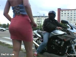 You can pick up hookers on a motorcyc.