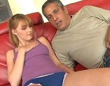young Babe Gives Her Sugar Daddy A blowjob