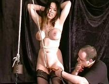 Cruel chinese twat Bondage and Forced climax