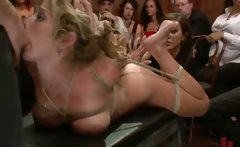 Bound in public groped and sexed