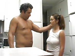 Daddy Gives gigantic tits Daughter A Snack.