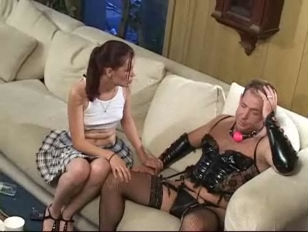 Daddy daughter hot sex on couch