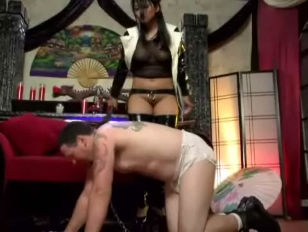 Mika Tan and her Anal Sex Slave