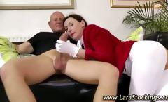 Amateur old brit gets a cumshot