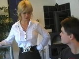German Mom Teaches teen BF by helen82