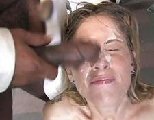 Bukkake skanks and Cumshot Interracial Porn
