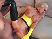 Trina Michaels cleans up to get kinky