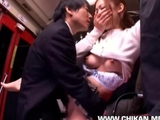 Shy lady groped and used in a bus by boeller33
