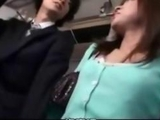 horny chick gives blowjob to bus passenger by jizz99