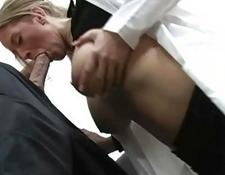 tasty enormous breasted blonde doctor boned by handsome patient